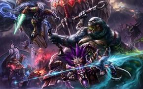 Картинка starcraft, Warcraft, Sonya, blizzard, diablo, варвар, Witch Doctor, Zeratul, Heroes of the Storm, moba, Azmodan, …
