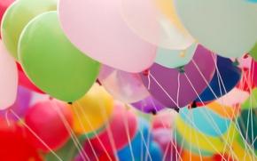 Картинка шарики, воздушные, нитки