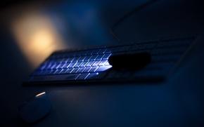 Картинка apple, mac, Light, mouse, Keyboard
