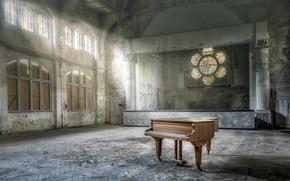Картинка музыка, рояль, зал