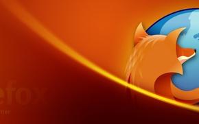 Обои Оранжевая, Лиса, Фаерфокс