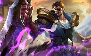 Картинка меч, мужчина, hon, одноглазый, Heroes of Newerth, berzerker, Xia Hou Dun Berzerker