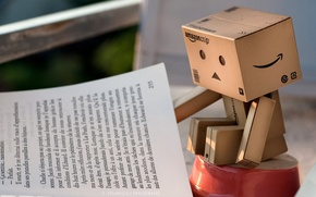 Обои коробочка, danbo, книжка