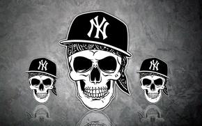 Обои skull, La Coka Nostra, Hip-hop, кепка, rap, череп