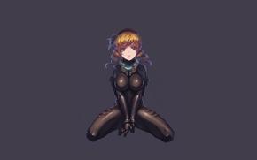 Картинка девушка, темный фон, минимализм, сидит, скафантр