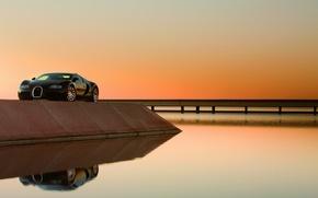 Картинка Veyron, Shadow, Reflection, embankment, Centenaire