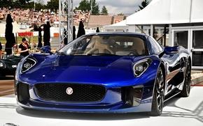 Картинка Concept, синий, Jaguar, C-X75, Jaguar C-X75 Concept