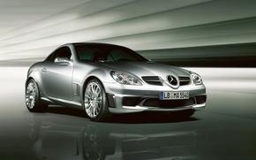 Картинка легкий, Mercedes-Benz, автомобиль, AMG, спортивный, Special Edition, SLK-55, двухдверный, компактный