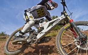 Картинка downhill, rider, specialized