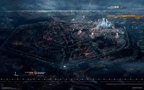 Обои город, будущее, париж