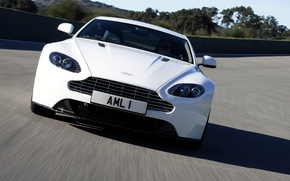 Картинка авто, Aston Martin, фары, передок, Vantage S