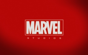 Обои Marvel, red, background, MARVEL, logo