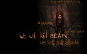 Картинка зло, закована, we will kill again