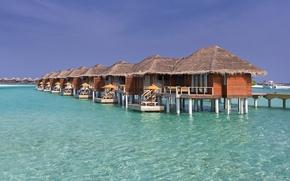 Картинка океан, Мальдивы, курорт