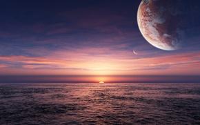 Картинка fantasy, sea, planet