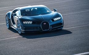 Обои Super, Chiron, 2016, Bugatti, Car