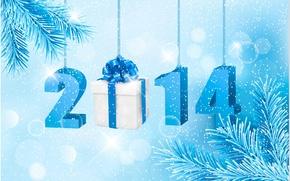 Обои новый год, рождество, снег, 2014, сосна