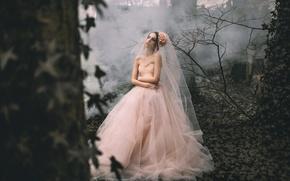 Картинка Lauren Hallworth, лес, девушка, платье, Rosie Hardy