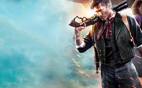 Картинка постер, элизабет, BioShock Infinite, букер