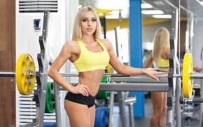 Обои photography, sportswear, fitness, gym, pose, blonde