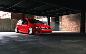 Картинка Volkswagen, red, GTI, mk6
