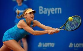 Картинка мяч, ракетка, Belinda Bencic, швейцарская теннисистка, Белинда Бенчич