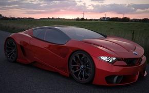 Обои M10, красный, авто, Concept, GT4, BMW