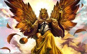 Обои Крылья, Весы, Правосудие