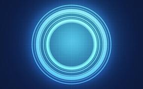 Обои круги, энергия, свет, клетка, фон