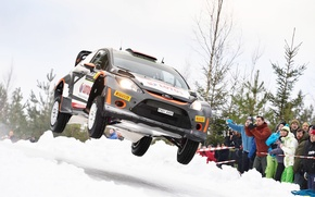 Картинка Ford, Прыжок, WRC, Rally, Fiesta, Kubica