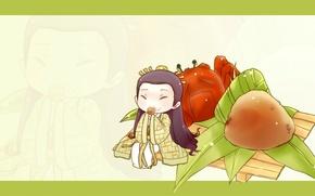 Картинка еда, минимализм, Япония, арт, кимоно