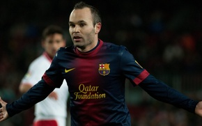 Картинка Футбол, Legend, Барселона, Football, Barcelona, Spain, Футболист, Andres Iniesta, Андрес Иньеста, Легенда, Игрок, Виртуоз