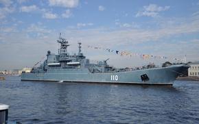 Картинка большой, десантный корабль, Александр Шабалин, проекта 775