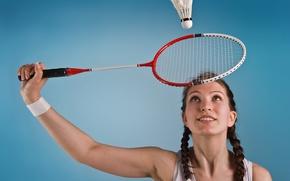 Картинка woman, badminton, racket