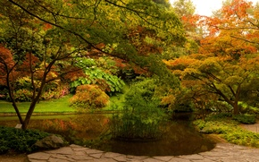 Картинка деревья, цветы, парк, Италия, кусты, Bellagio.