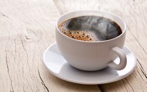 Обои кофе, чашка, напиток, бодрящий