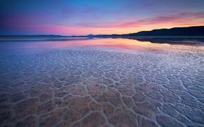 Обои 155, вечер, вода, пустыня, отражение
