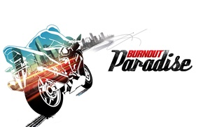 Картинка город, мотоцикл, bike, burnout, paradise