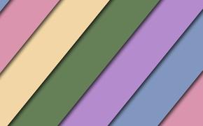 Картинка зеленый, полосы, розовый, голубой, color, material- design
