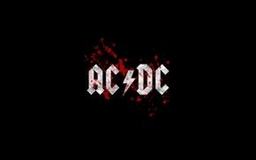 Картинка музыка, черный, логотип, rock, рок, ac/dc, hard-rock