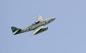Обои истребитель, войны, полёт, бомбардировщик, реактивный, мировой, Второй, времён, Me.262, самолёт-разведчик, Мессерщмитт