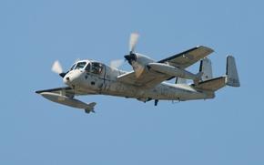 Картинка полет, самолёт, Grumman, ударный, разведывательный, «Мохаук», OV-1 Mohawk