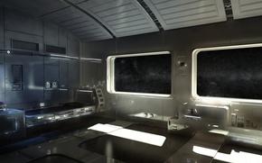 Картинка корабль, кровать, напитки, космический, Space suite, горячительные, номер люкс, иллюминаторы