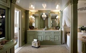 Картинка дизайн, интерьер, зеркало, ванная
