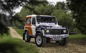 Картинка фон, Land Rover, передок, Defender, Ленд Ровер, Дефендер, Challenge, Bowler