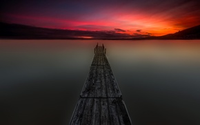 Картинка небо, пейзаж, озеро, красота