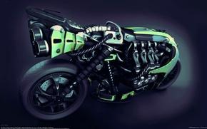 Картинка колесо, мотоцикл, байк, moto, bot bike, artem volchik