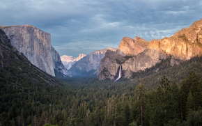 Картинка лес, горы, национальный парк, Yosemite National Park, Burning Edges