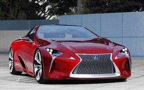 Картинка машина, Lexus, красная, LF-LC Sports Coupe Concept