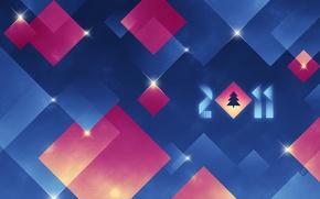 Картинка зима, абстракция, праздник, елка, новый год, ёлка, 2011, happy new year, happy hollidays, минимаизм